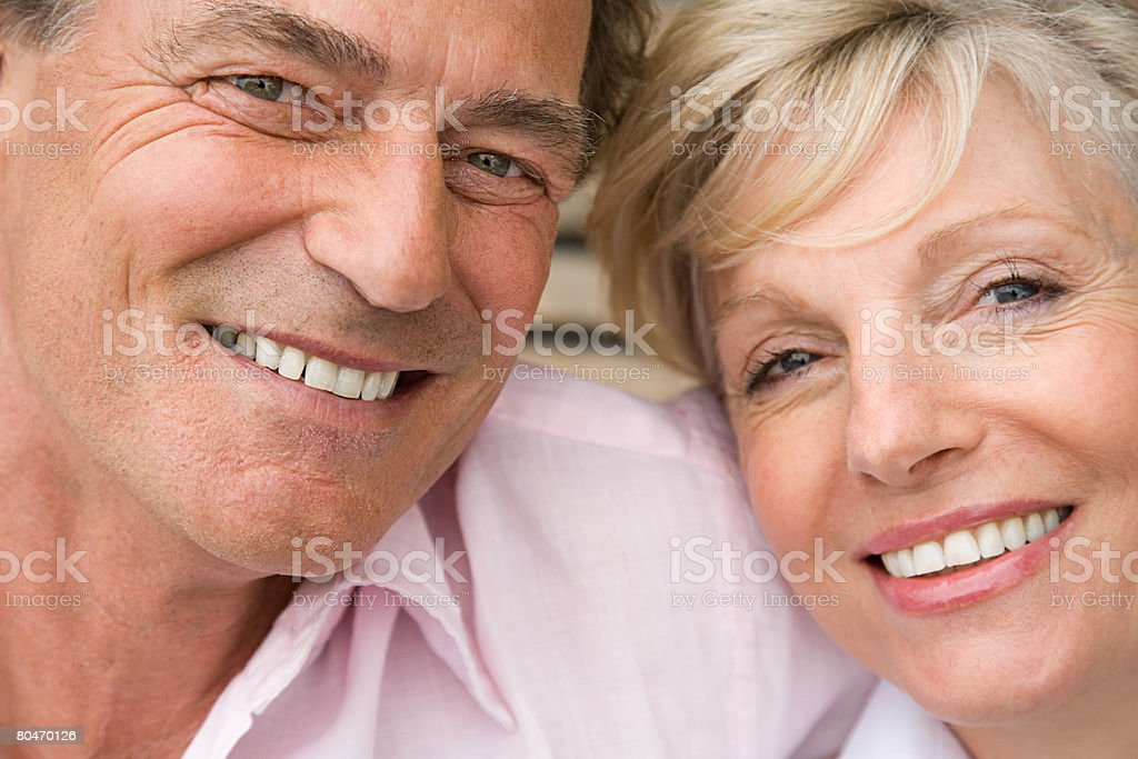 Headshot of a smiling mature couple 免版稅 stock photo