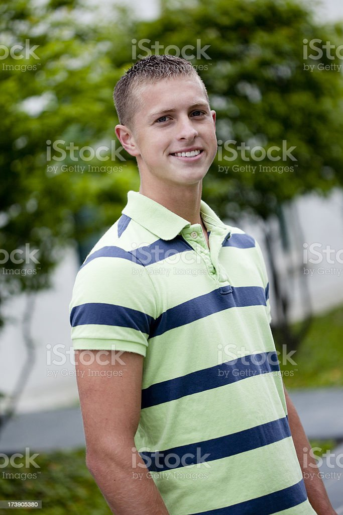 Headshot of a young man stock photo