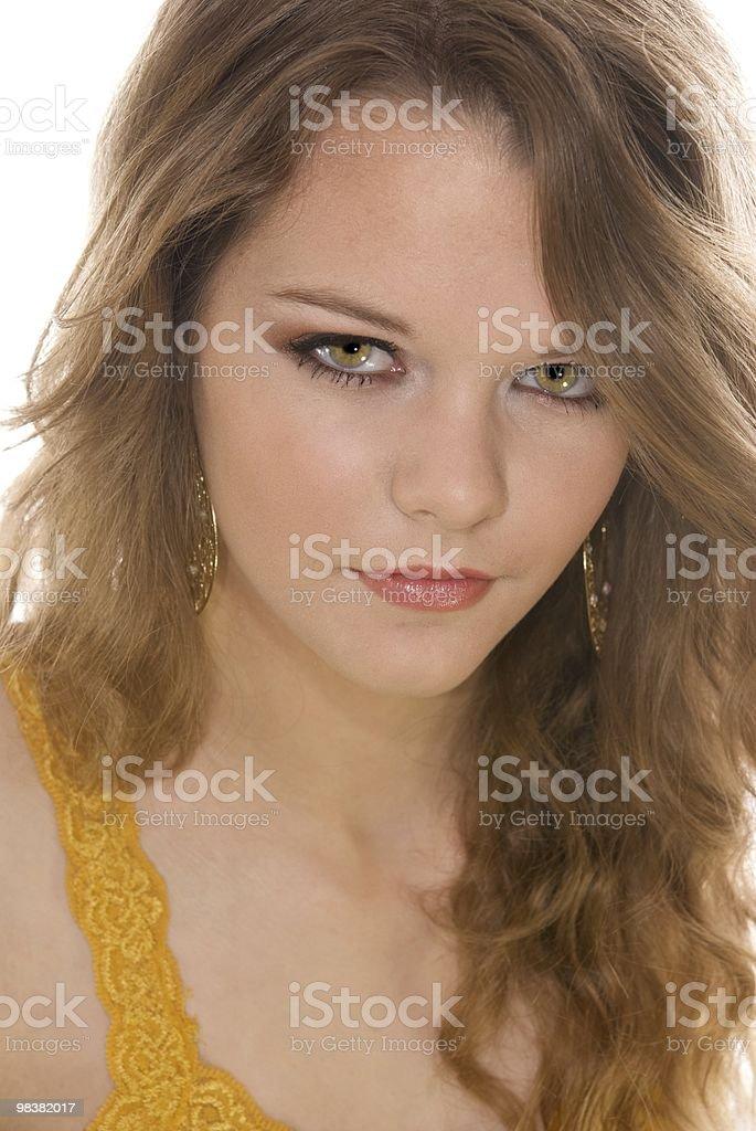Headshot of Beautiful Teenager royalty-free stock photo
