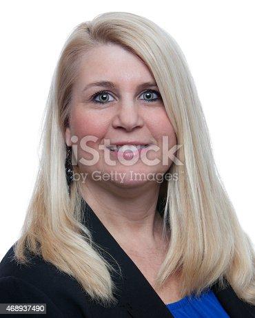 Headshot photo of a female business woman.