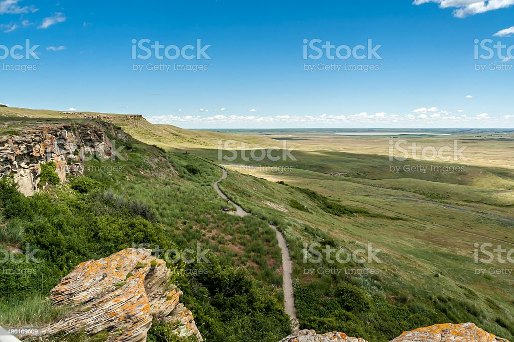 Head-Smashed-In Buffalo Jump stock photo