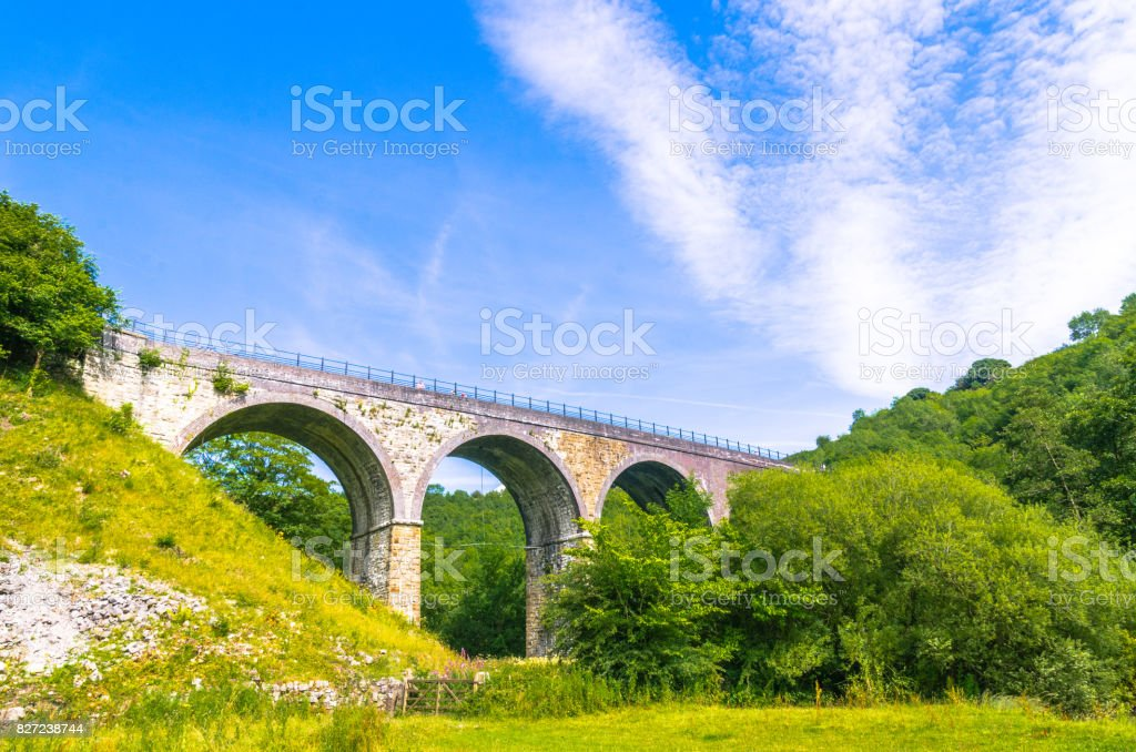 Headstone Viaduct on the Monsal Trail in the Peak District stock photo