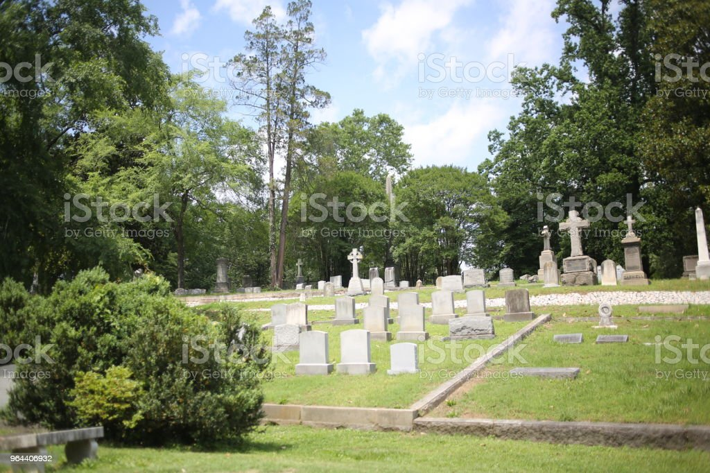 Headstones and Monuments in Hollywood Cemetery, Richmond, Virginia - Royalty-free American Culture Stock Photo