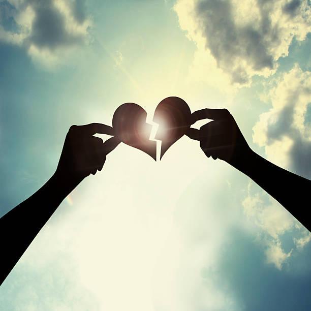 Heal a broken heart stock photo