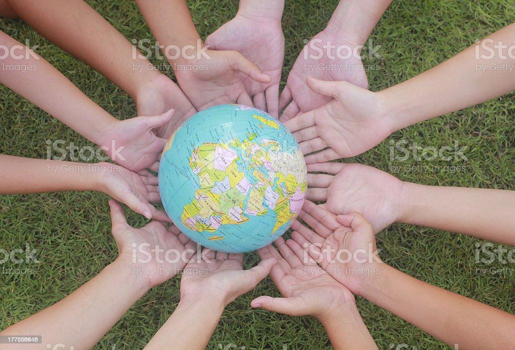 Heal the world stock photo