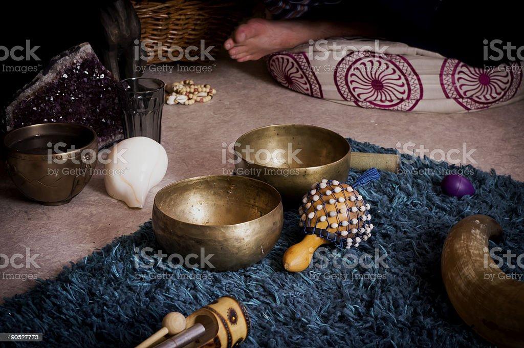 Healing ceremony stock photo