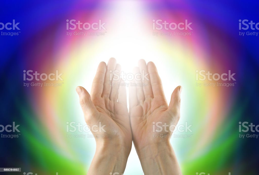 Healing Circle of Light stock photo
