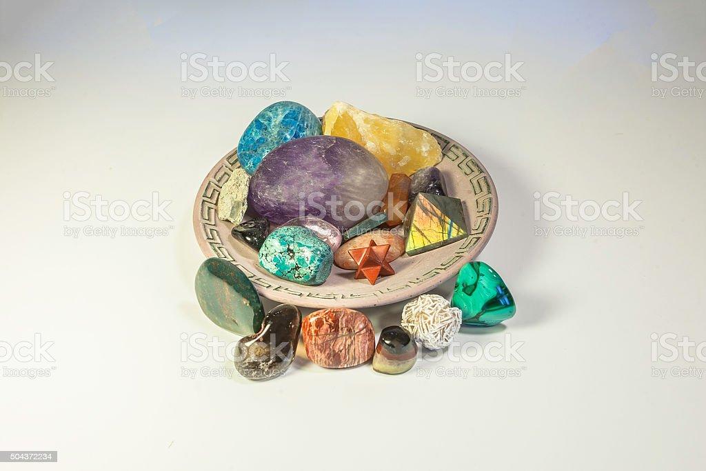 Healing Crystals stock photo