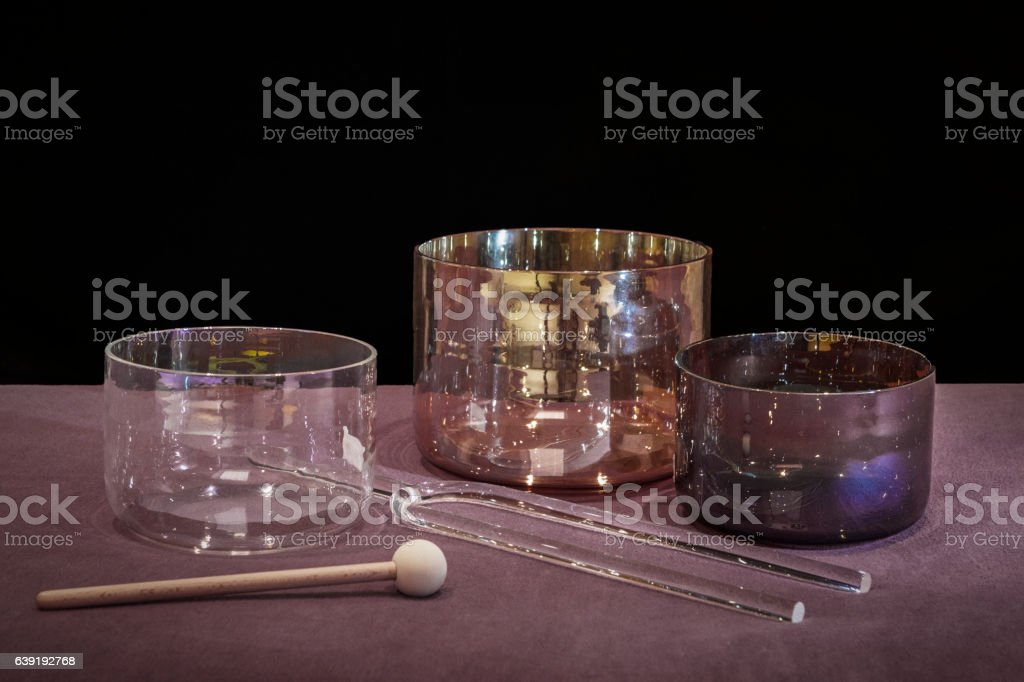 Healing Sounds Tools For Sound Treatment Stock Photo