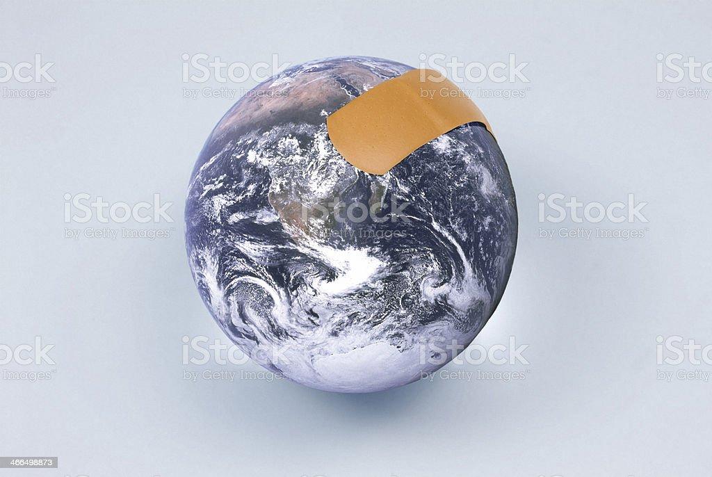 Healing the globe stock photo