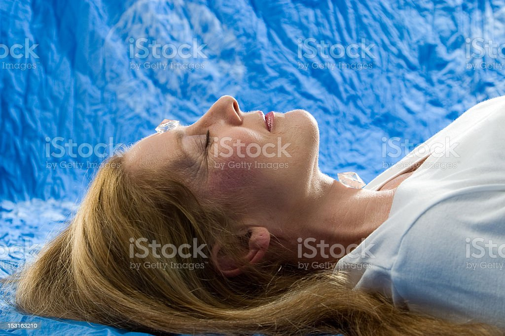 Healing with mountain crystal royalty-free stock photo