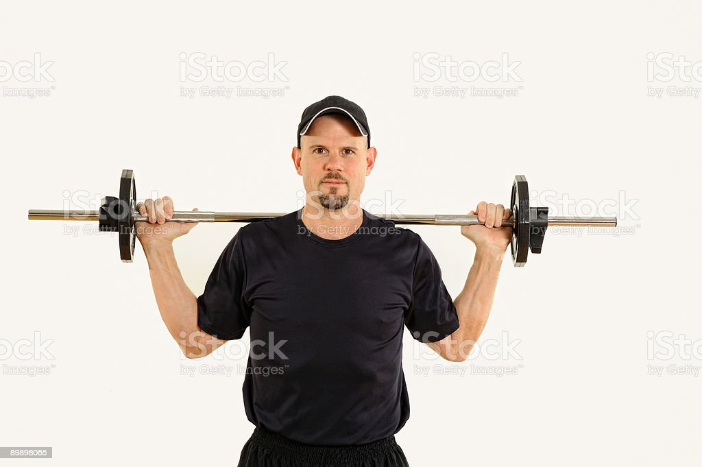 Health and Fitness Man Weight Training royalty-free stock photo