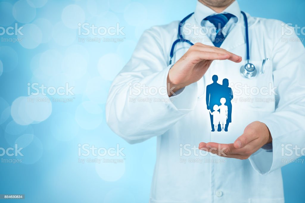 Health (medical) and life insurance stock photo