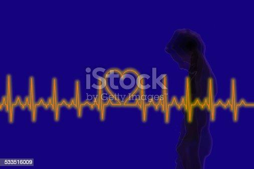 istock Health and  medicine concept  with ecg line 533516009