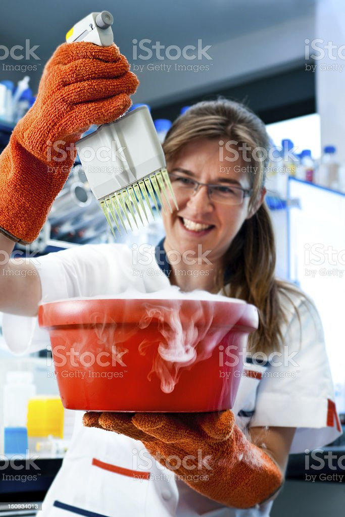 Health and safety in modern lab royalty-free stock photo