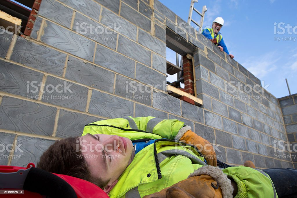 Young Builder Falling from Scaffolding
