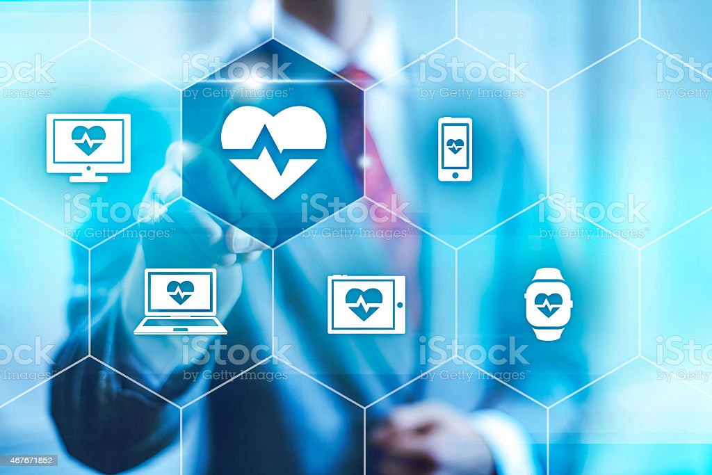 Health applications concept stock photo