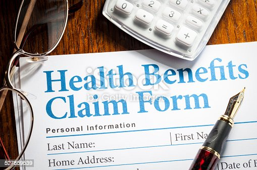 istock Health Benefits Claim form 527859539