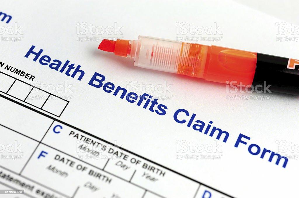 Health Benefits Form royalty-free stock photo