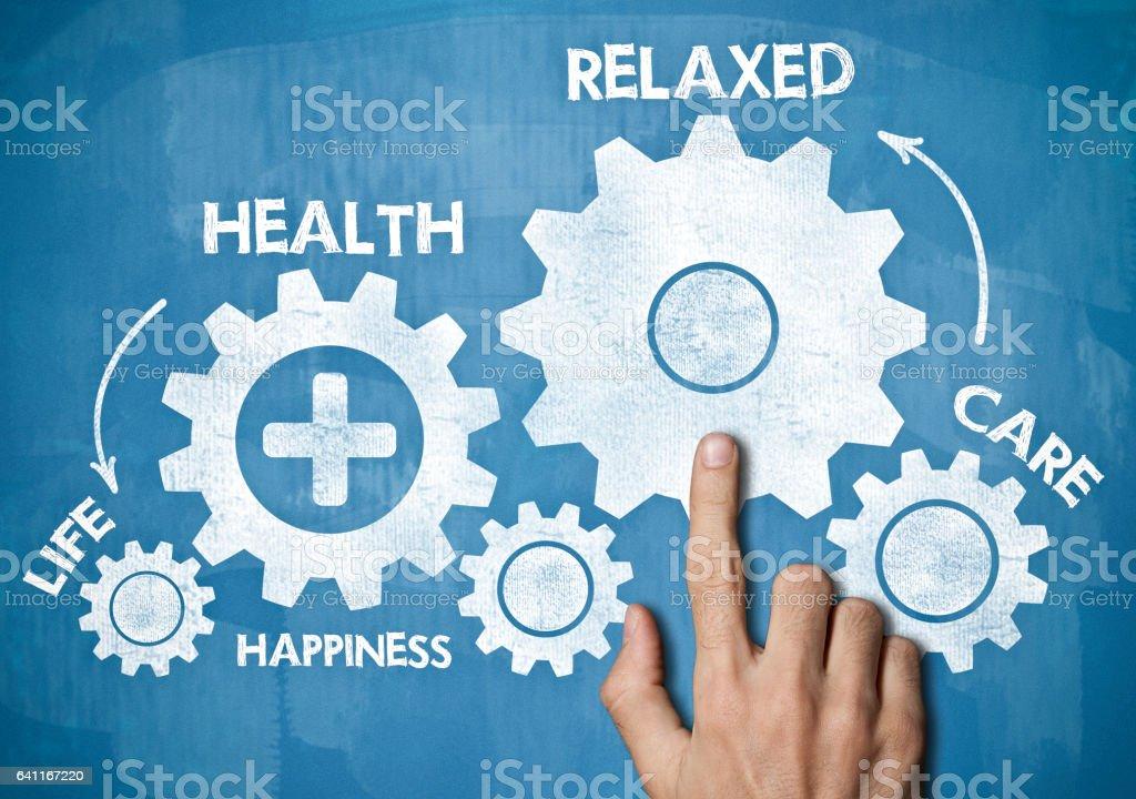 Health / Blue board concept (Click for more) stock photo