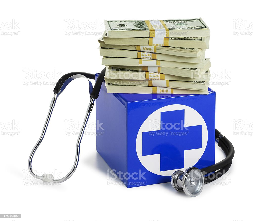 Health Care and Financial Expense royalty-free stock photo