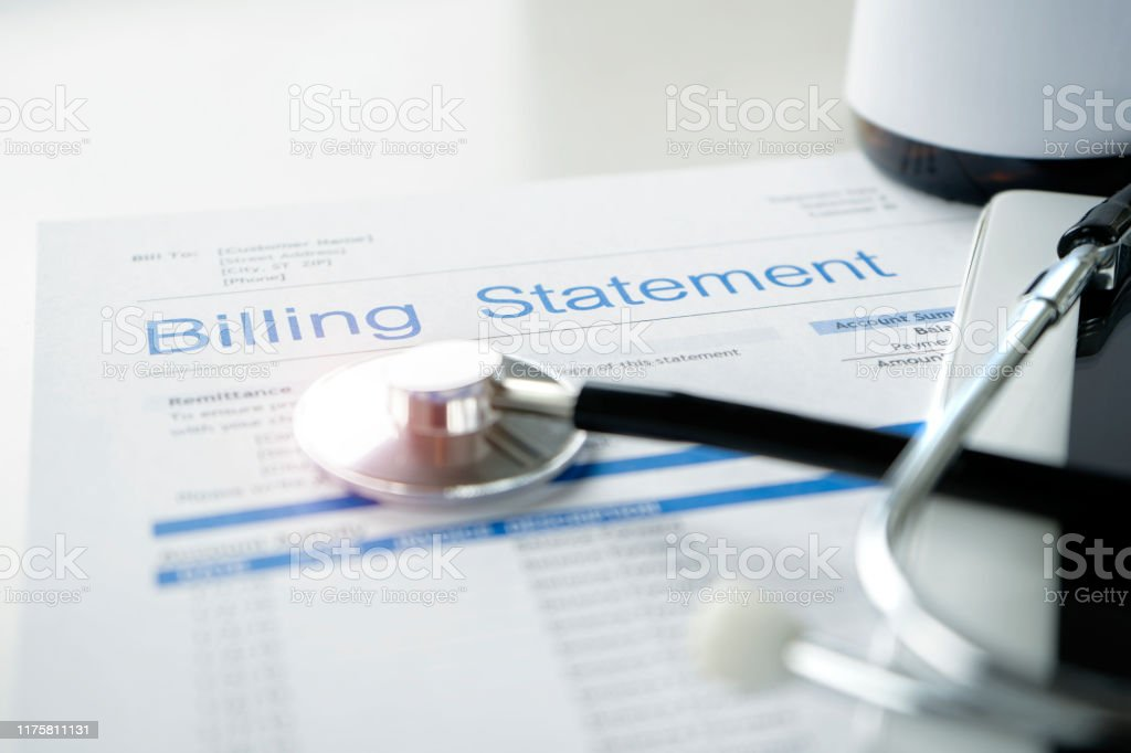 Health care billing statement. - Стоковые фото Белый роялти-фри