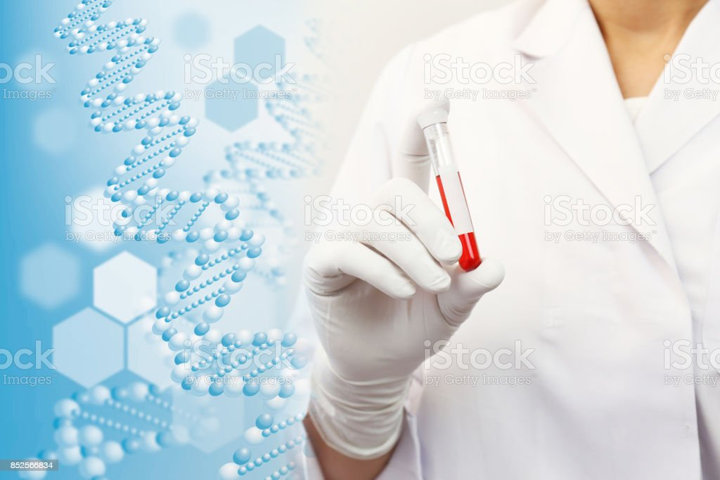 Health care, Blood test stock photo
