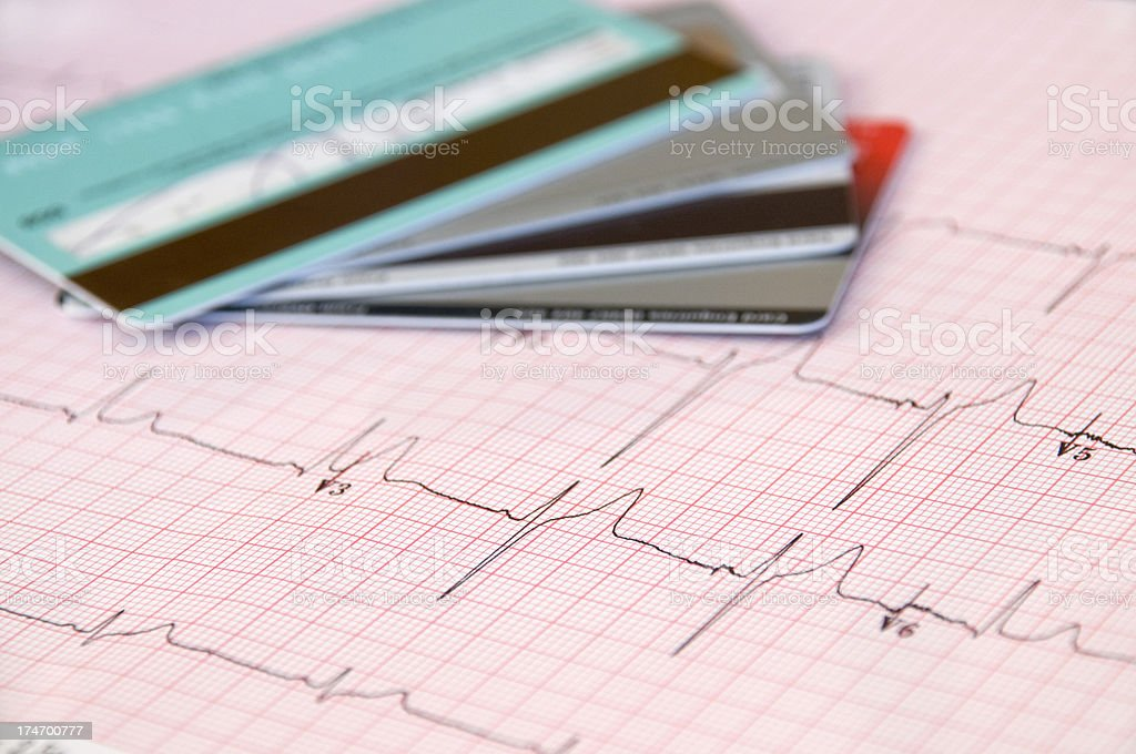 ECG health care royalty-free stock photo