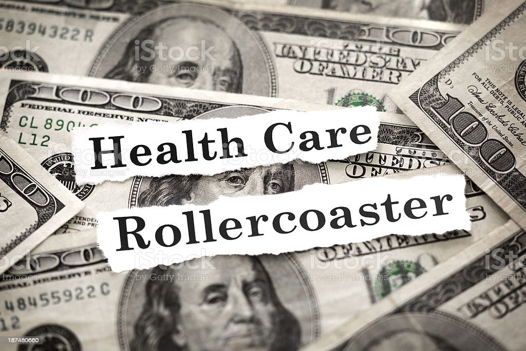 Health Care Rollercoaster royalty-free stock photo