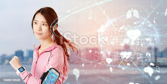 istock Health care technology concept. 1068618508