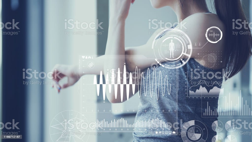Health care technology concept. Vital sign sensing. - Royalty-free 5G Stock Photo