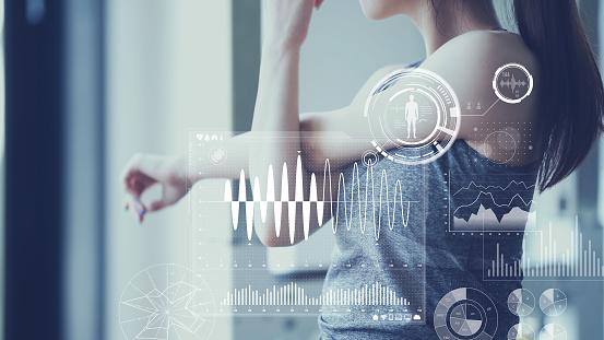 istock Health care technology concept. Vital sign sensing. 1169712167