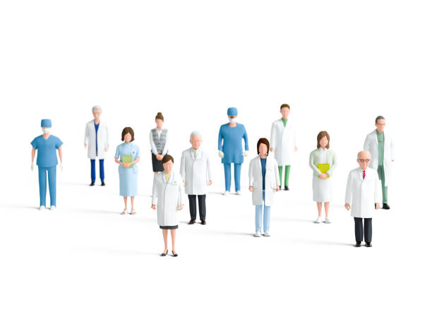 Health care workers Health care workers biomedical illustration stock pictures, royalty-free photos & images