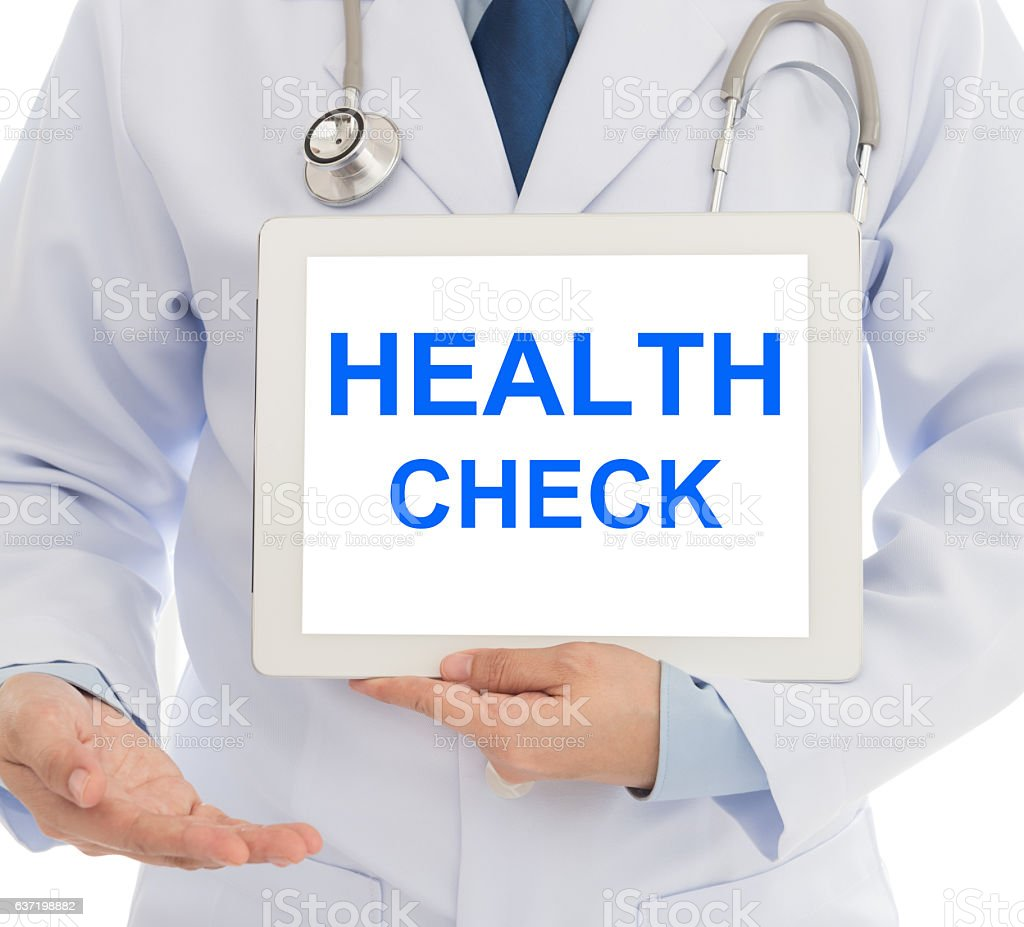 health check stock photo