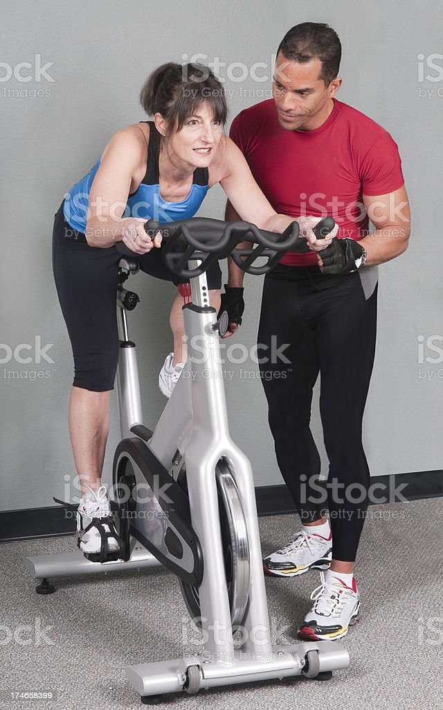 Health Club Workout - Spinning royalty-free stock photo