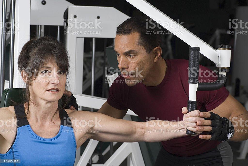 Health Club Workout - Flies Machine royalty-free stock photo