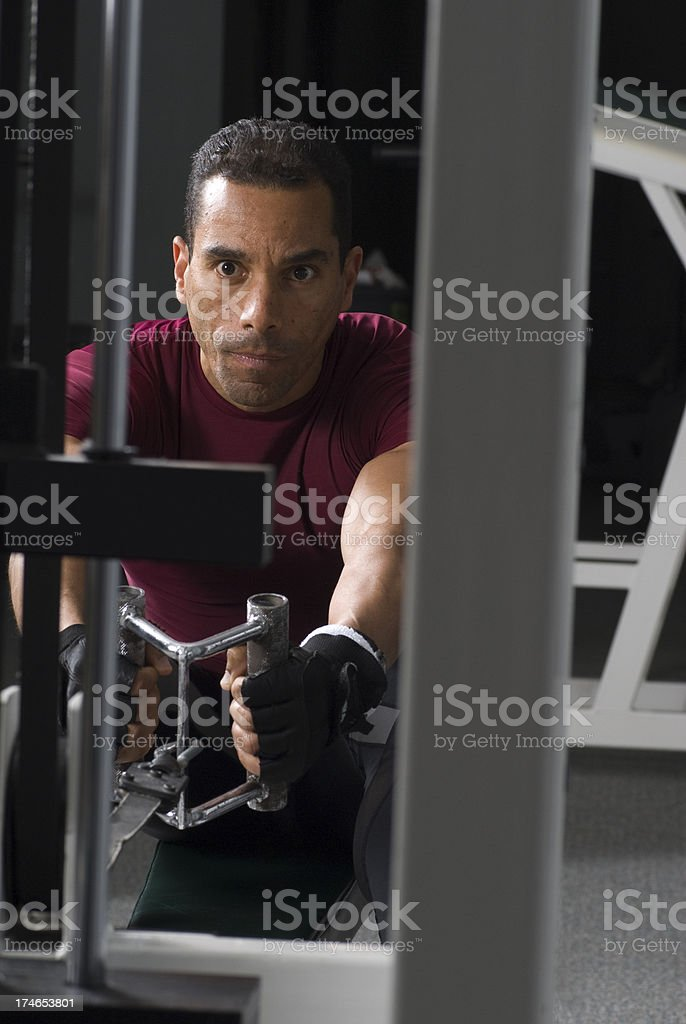 Health Club Workout - Rowing Machine royalty-free stock photo