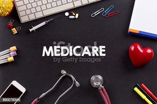 istock Health Concept: MEDICARE 890078344
