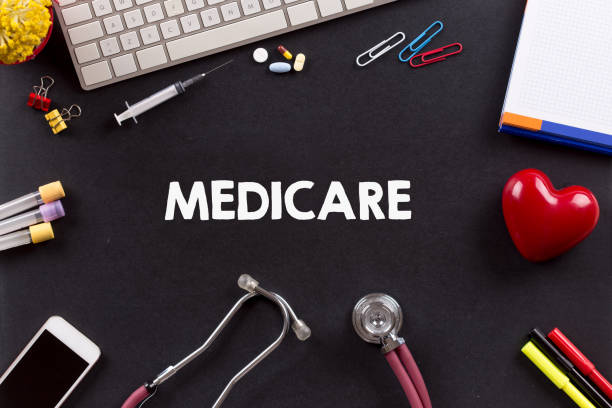 Health Concept: MEDICARE Health Concept: MEDICARE medicare stock pictures, royalty-free photos & images