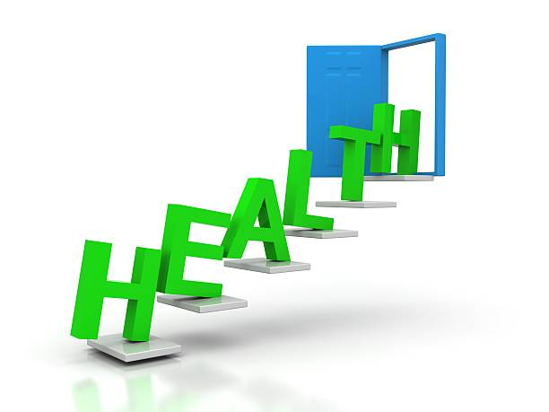 health conceptual door stock photo