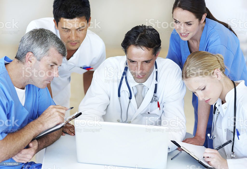 Health concerns on a laptop royalty-free stock photo