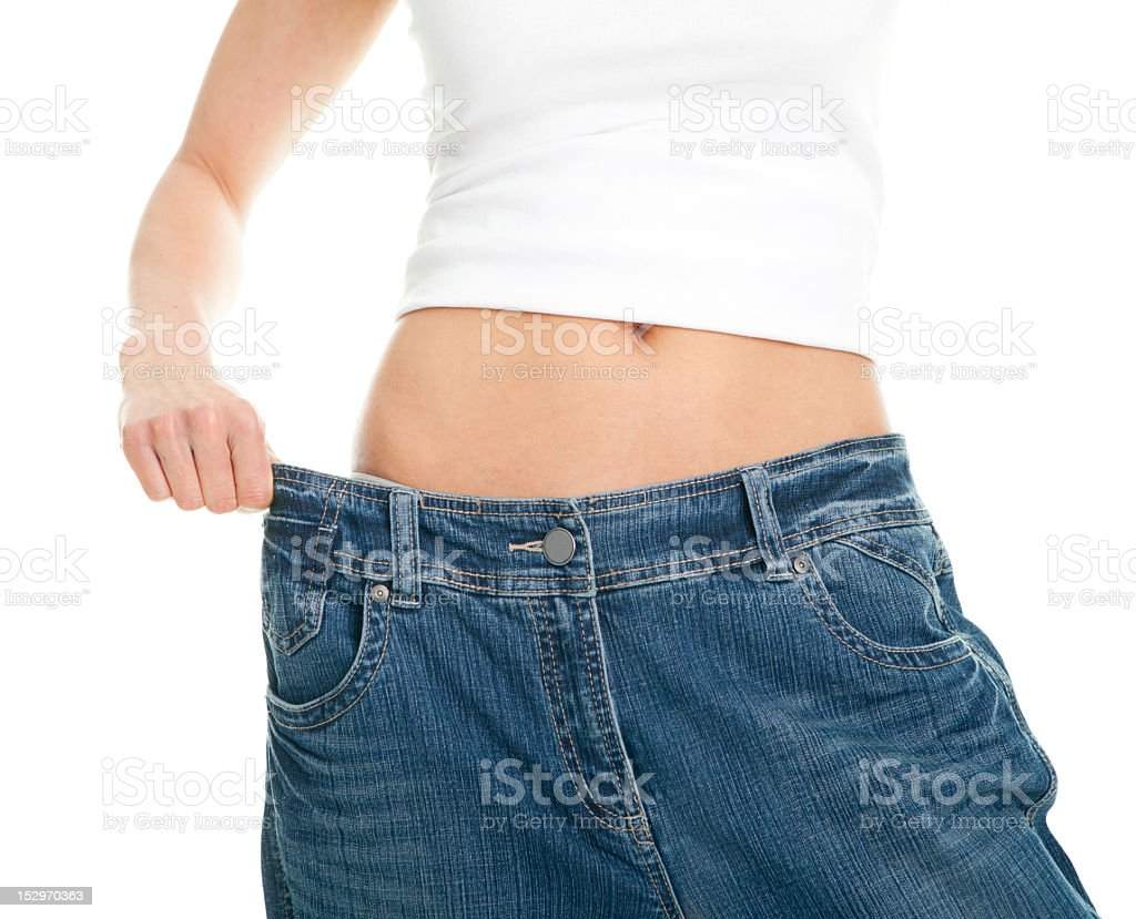 Health conscious female weight loss concept royalty-free stock photo