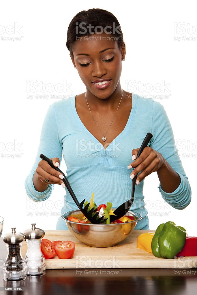 Health Conscious - Tossing Salad royalty-free stock photo