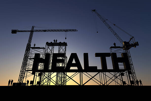 Health construction site stock photo