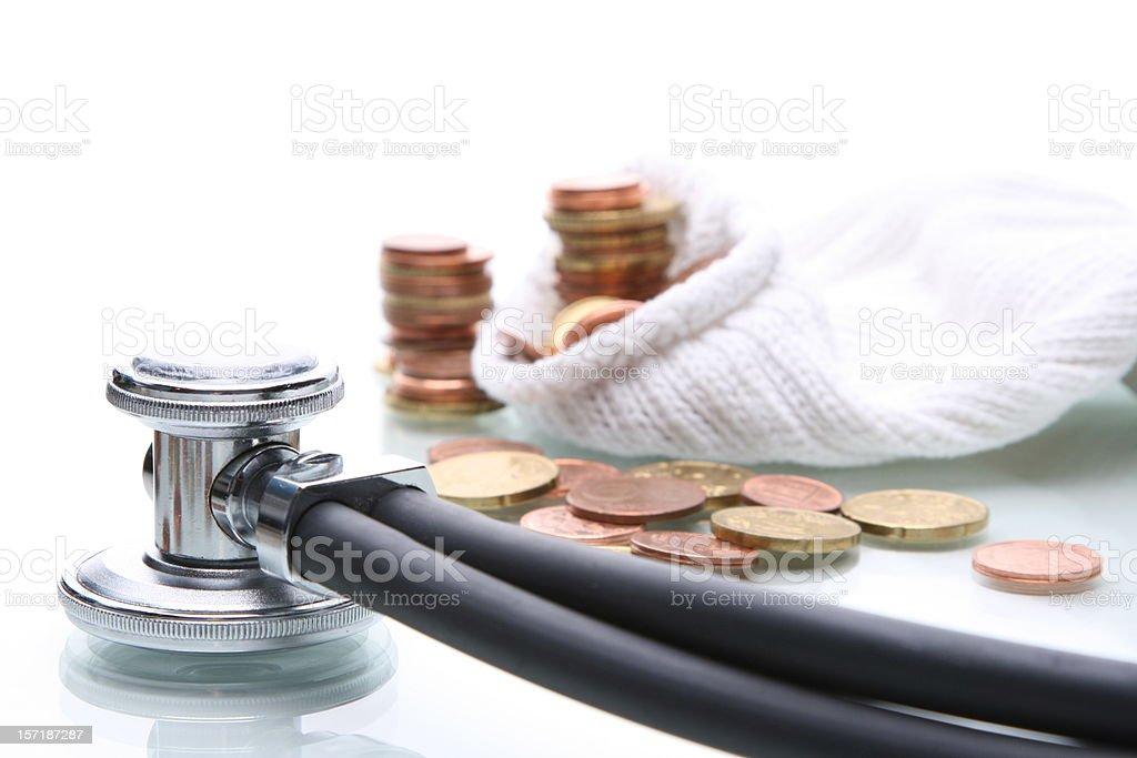 Health cost Money royalty-free stock photo