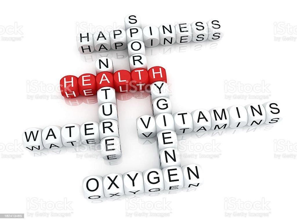 Health crosswords royalty-free stock photo
