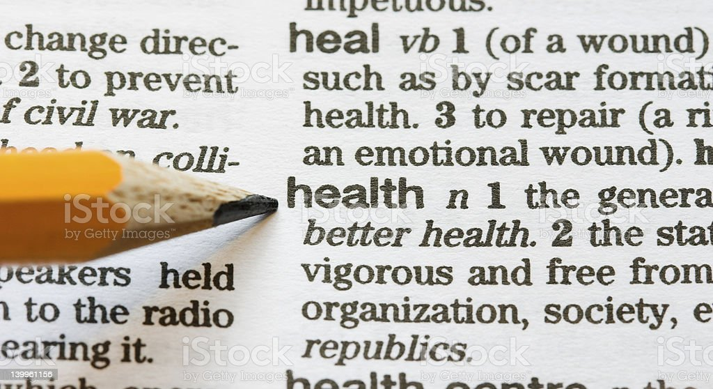 Health defined stock photo