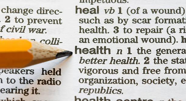 gesundheit definiert - definition krankheit stock-fotos und bilder