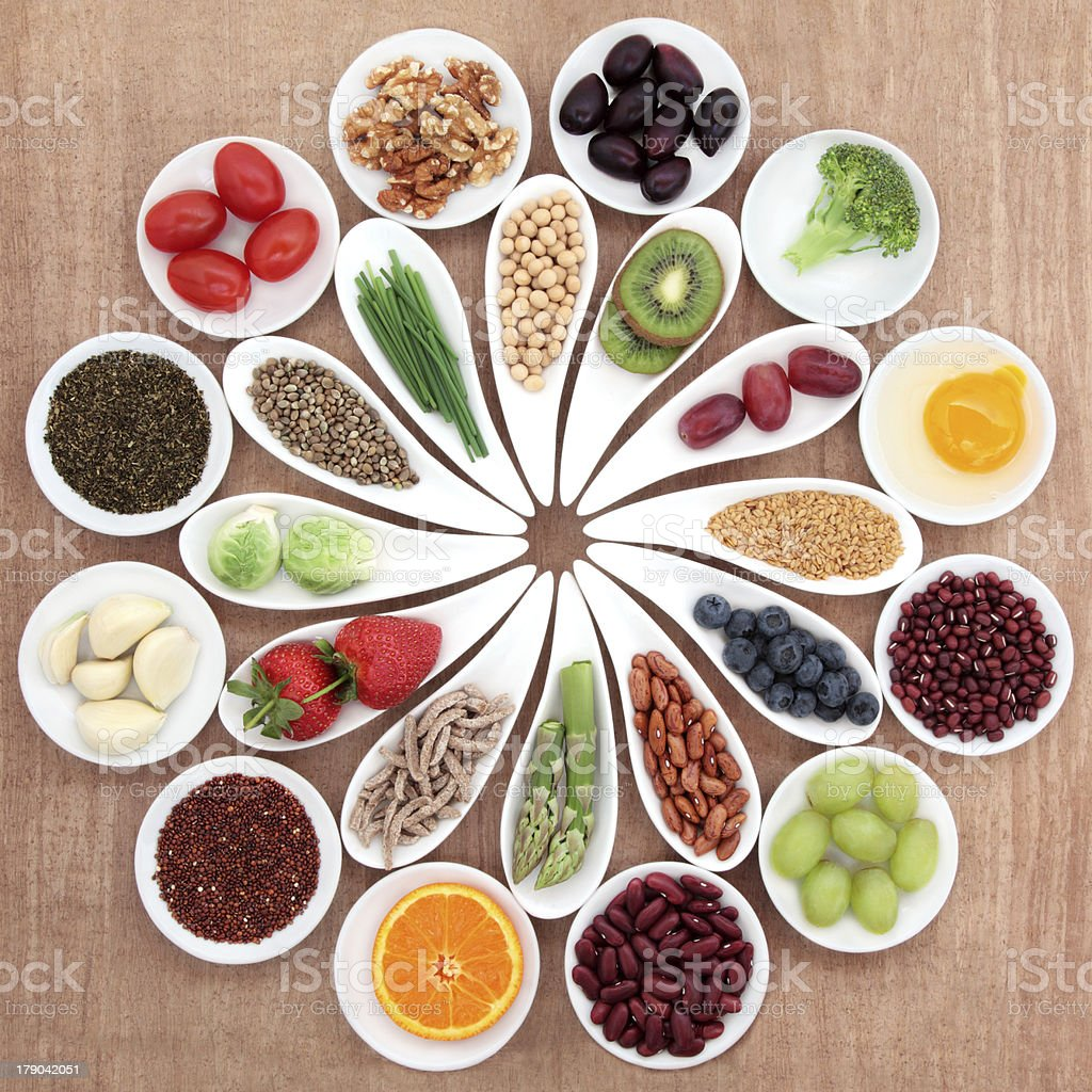 Health Food Platter stock photo