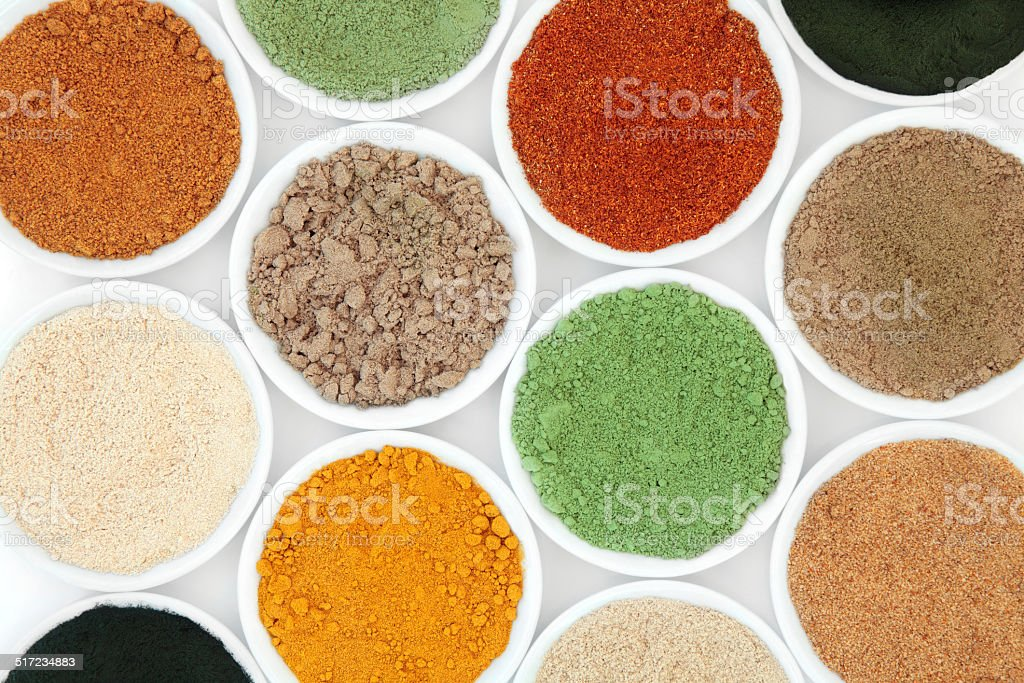 Health Food Powders stock photo